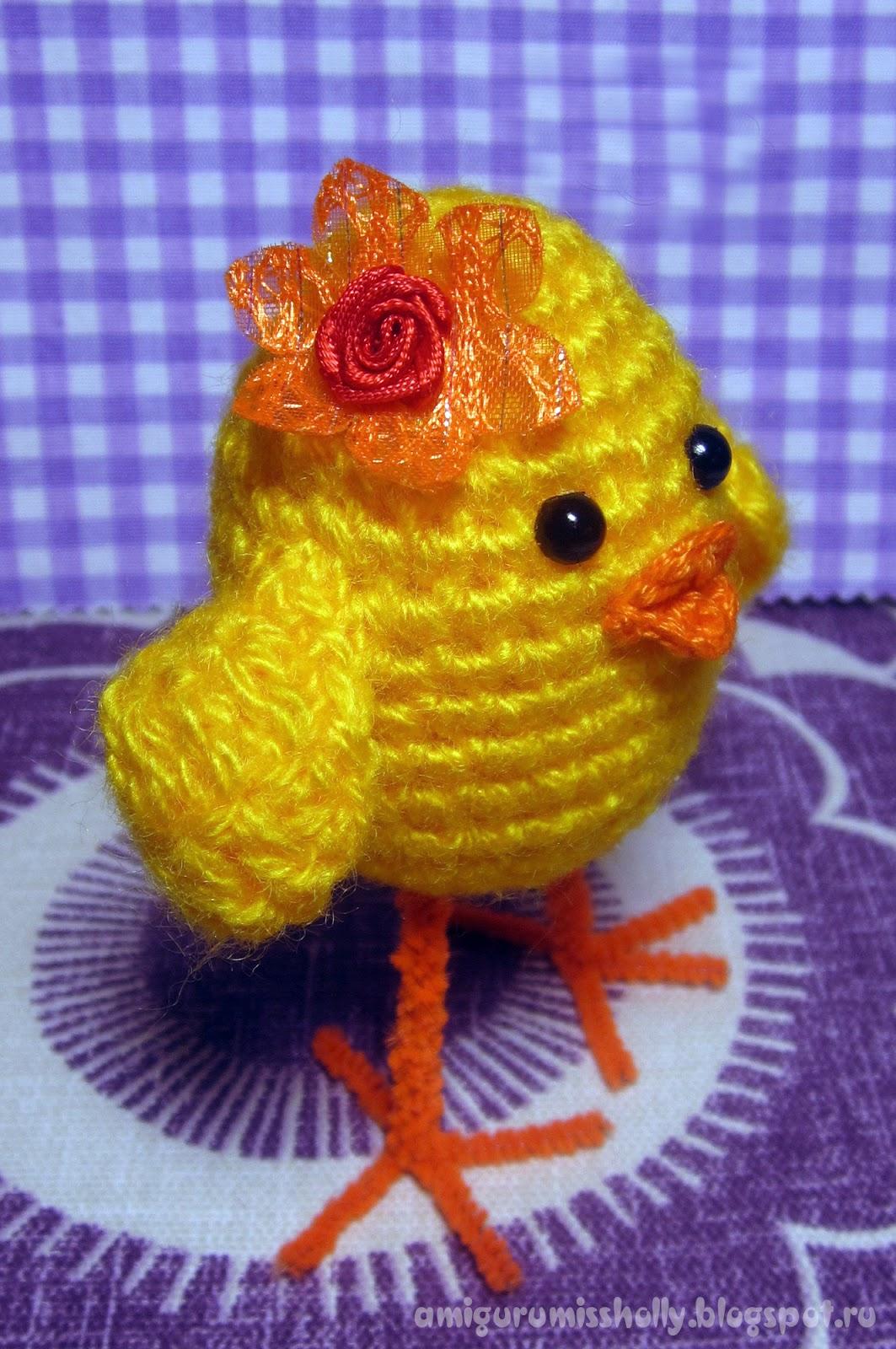 Вязание цыпленка в скорлупе