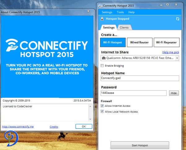 Connectify Hotspot Pro 2016 serial key Torrent Archives