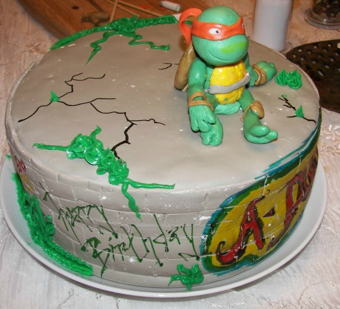 The Cake Villain Ninja Turtle Birthday Cake Michaelangelo