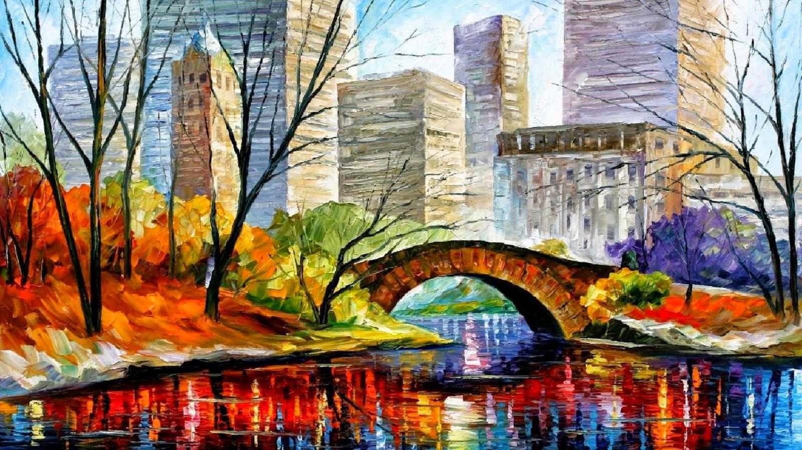 Cuadros pinturas oleos aqu oleos ciudades y abstractos for Cuadros de oleo modernos