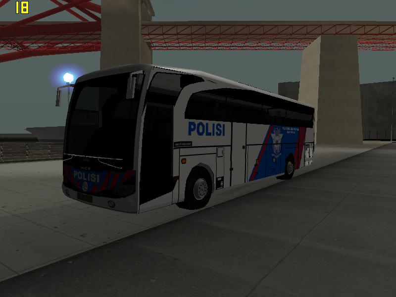 GTA San Andreas Mods Bus Polisi Gighway Patrol (NEW MARCOPOLO)