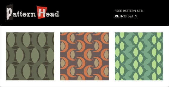 Vector Repeat Patterns – Retro Set 1