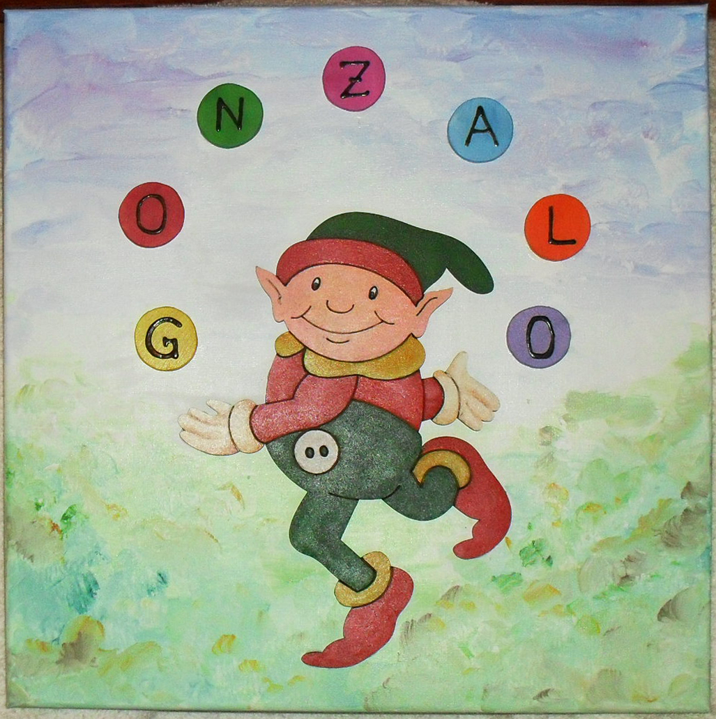 Muviarte cuadros infantiles con su nombre - Cuadros infantiles silvia munoz ...