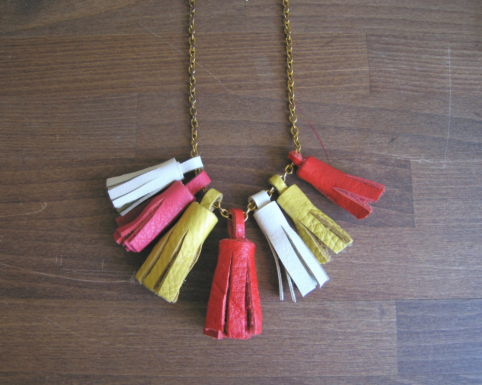 DIY leather tassel necklace tutorial