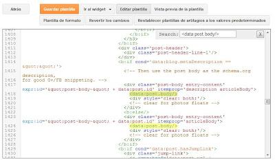 códigos donde se pondrán los anuncios dentro de las publicaciones