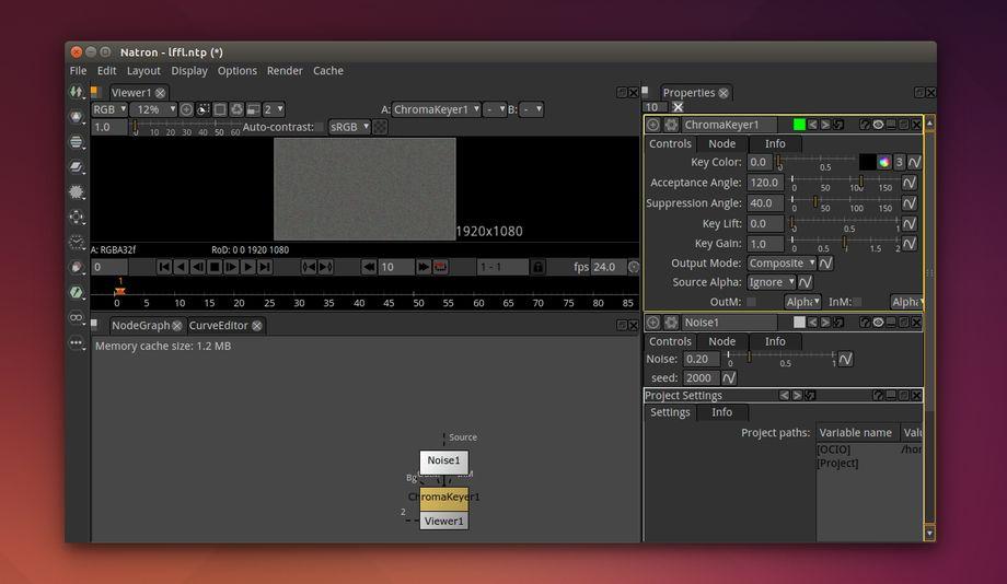 Natron in Ubuntu