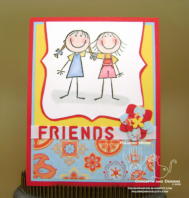 Picture of handmade Red Friendship Card