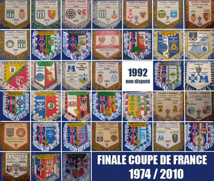 Fanions de football fanions finale coupe de france 1974 2011 - Coupe de france 2013 2014 ...