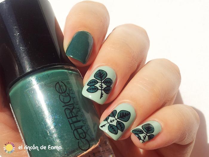 leaves nail art | el rincon de fama
