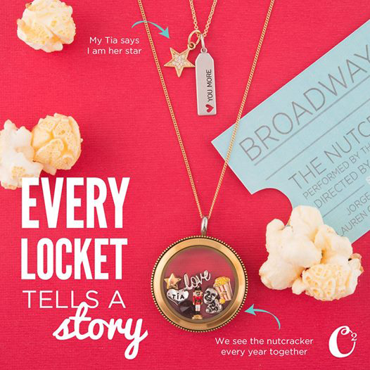 I Love the Theater Origami Owl Living Locket | Shop StoriedCharms.com