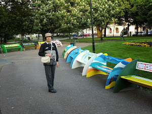 Stadtpark im Centrum von Plzen / Tschechische Republik