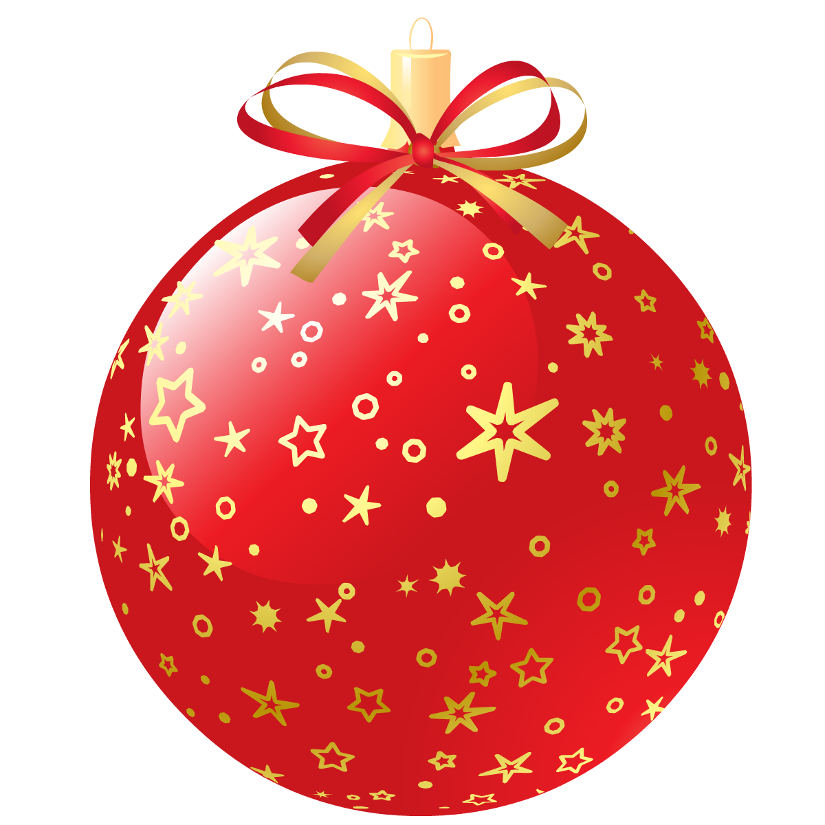 Red Christmas Ornaments Png