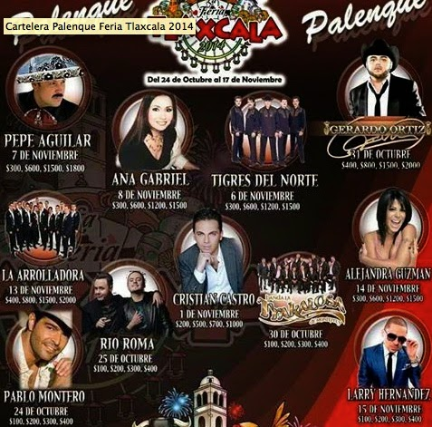 Artistas palenque Feria Tlaxcala 2014