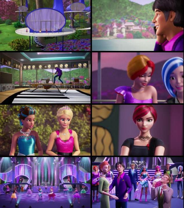 Barbie in Rock N Royals 2015 Dual Audio 720p BluRay