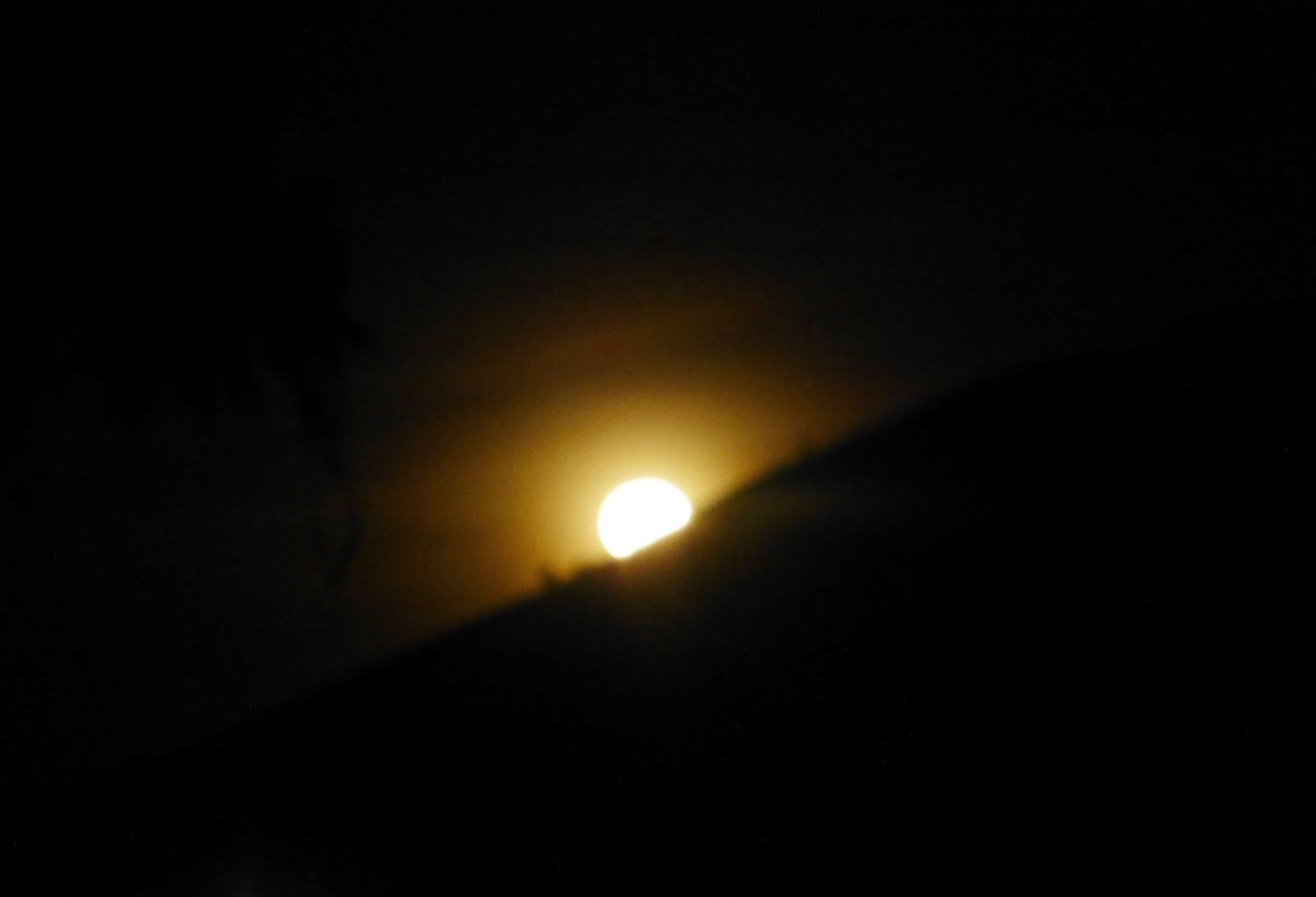 Moonrise over Kisiizi hills...