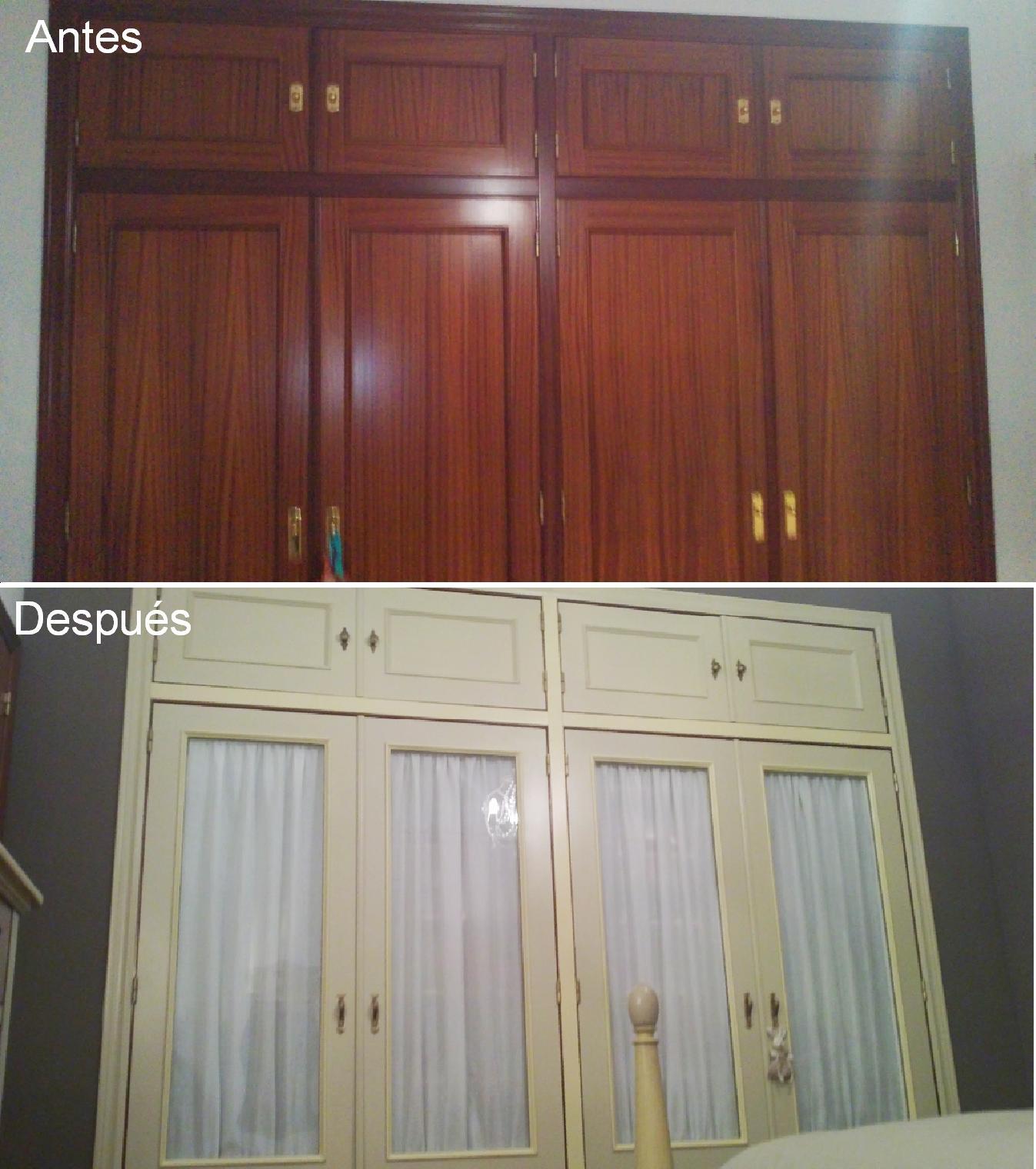 Antes y despu s del armario de mamen - Restaurar armario ...