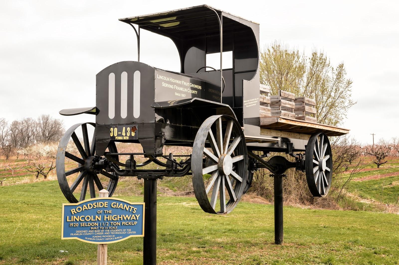 Lincoln Highway Roadside Giant - 1920 Seldon 1 1/2 Ton Pickup