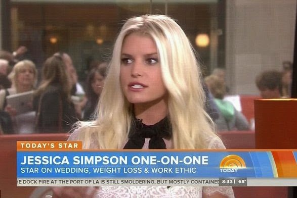 Jessica Simpson looked in great new spirits as she announced her changing legally name being Jessica Johnson to the Today show on  Wednesday, September 24, 2014.