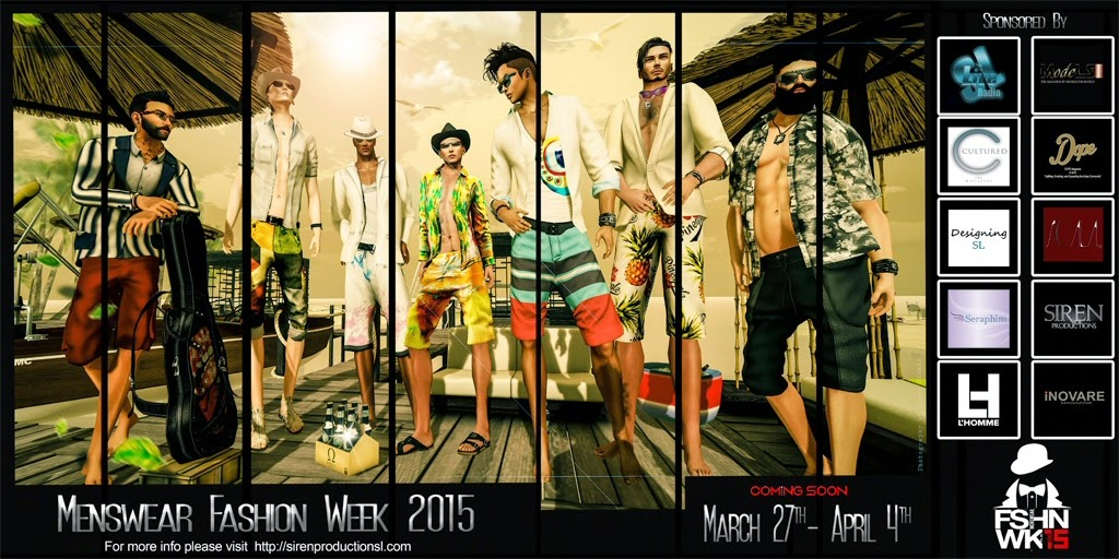 MensWear Fashion Week 2015,second life,sl