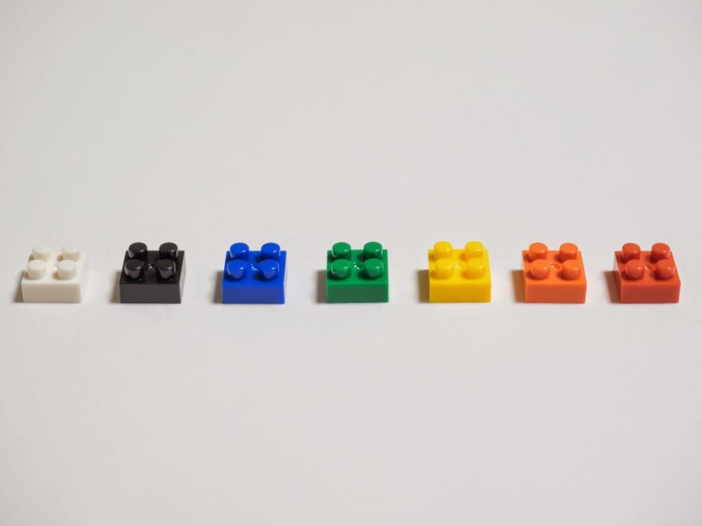 ナノブロックスタンダードカラーセットNEW の7色