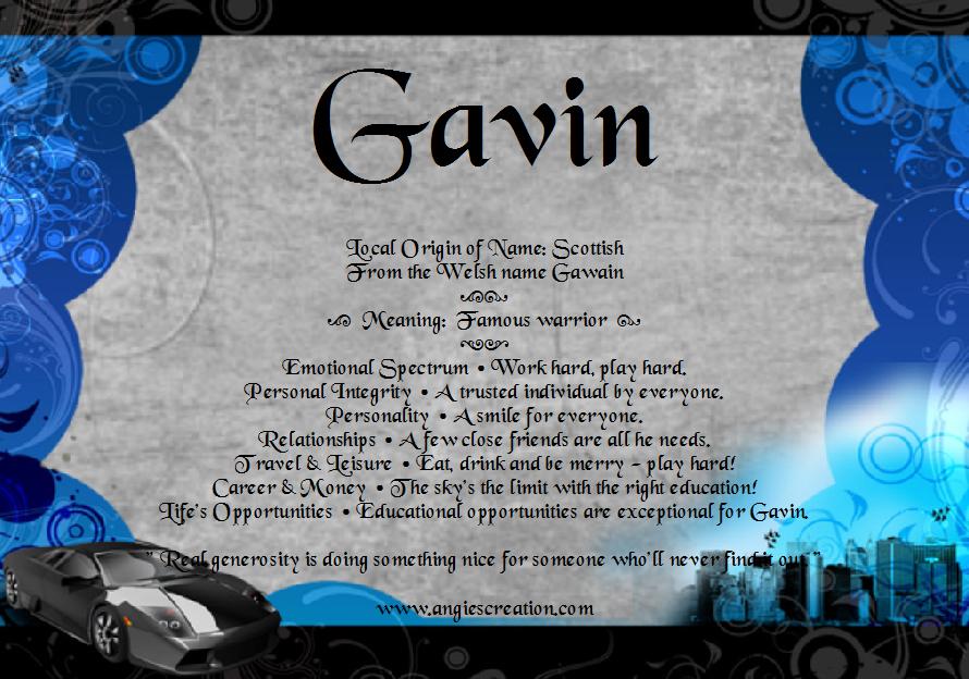 Gavin | Unique Names