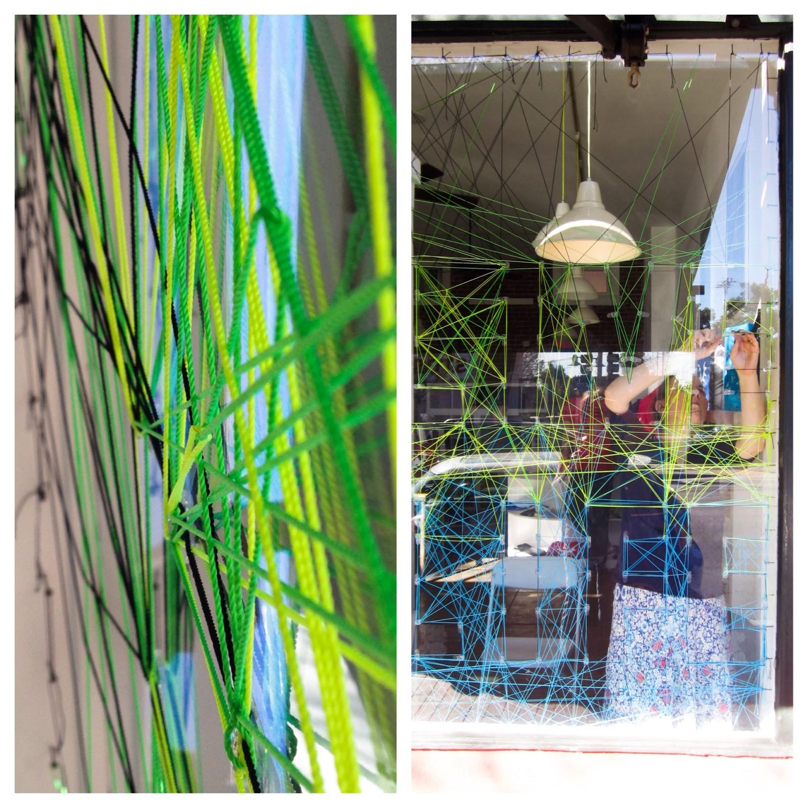 http://www.wodgearclothing.com/ string art window display with www.greenbugmarketplace.etsy.com