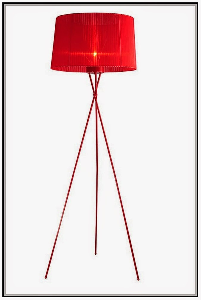Red Floor Lamp Modern