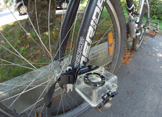 GoPro HD Camera on Bike Fork