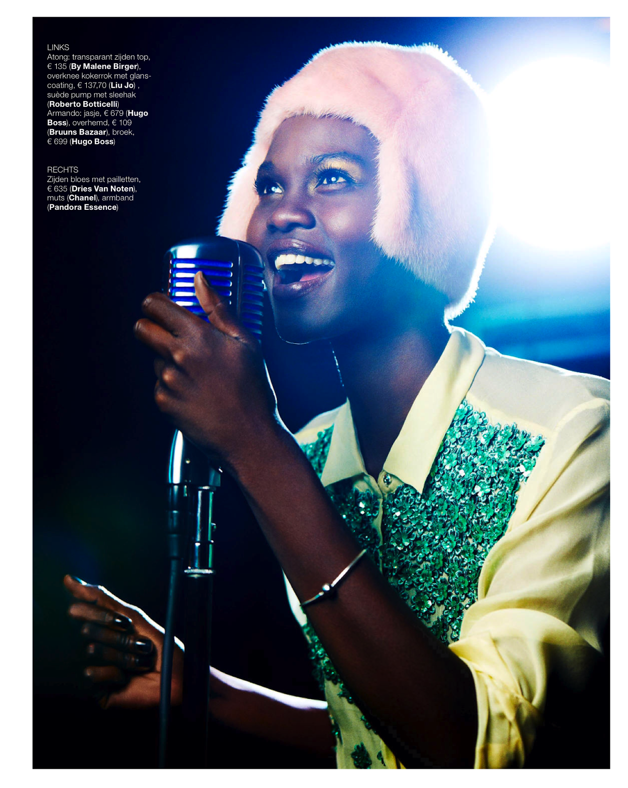Magazine Photoshoot : Atong Ajork Photoshoot by Chris Craymer for Marie Claire Netherlands January 2014