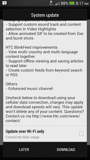 HTC Butterfly receiving Android 4.3 JellyBean update with Sense 5.5