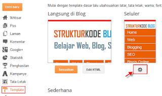 mengaktifkan template blog selular pada blog
