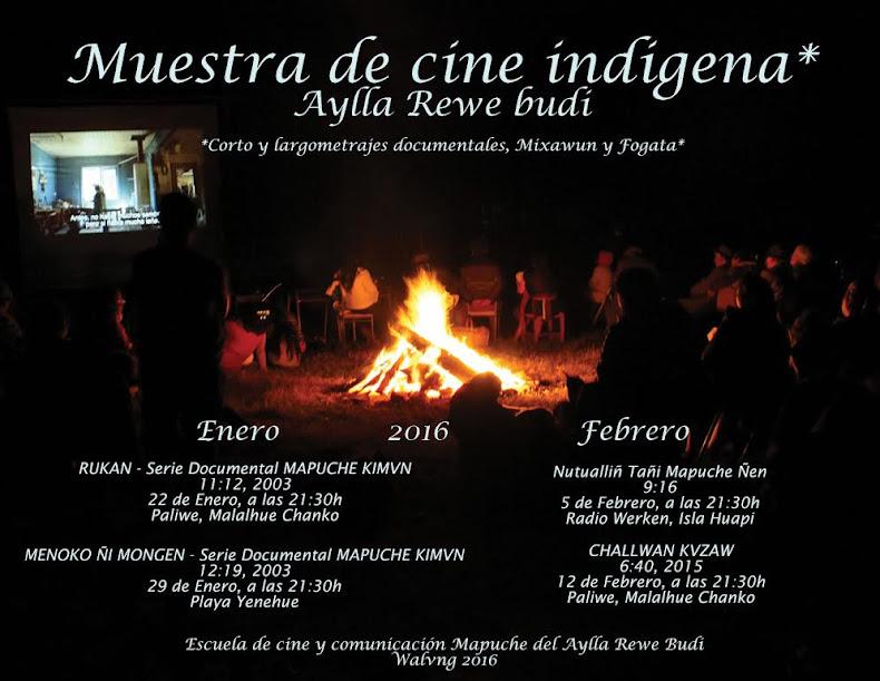 La Escuela de Cine y Comunicación del Aylla Rewe Budi está realizando muestras de cine en el terri