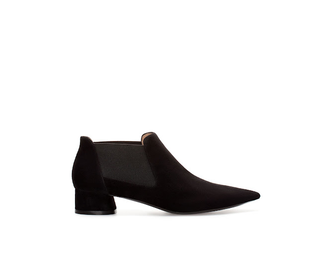 zara pointed ankle boot