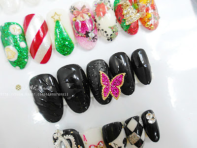 Christmas Tree Design Nails