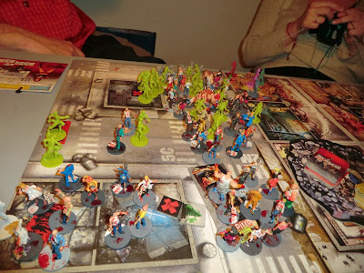 Zombicide, Game, play, toxic city, mall, zombies, painted, flame thrower,