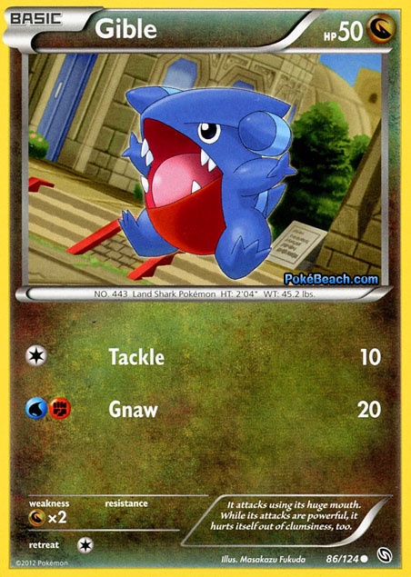 Gible #86/124 -- Dragons Exalted Pokemon Card Review ...
