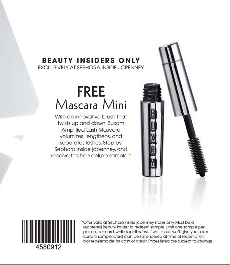 Bluntly Reviewed: FREE Deluxe Sample Buxom Mascara at Sephora ...