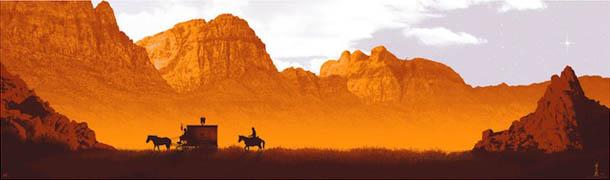 poster: Django Unchained - design de Mark Englert
