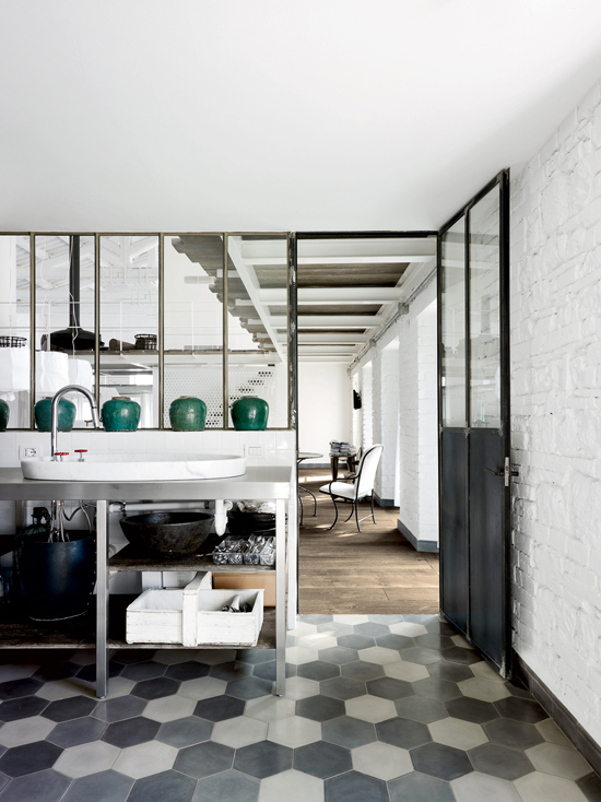 Old factory renovated into home by Paola Navone