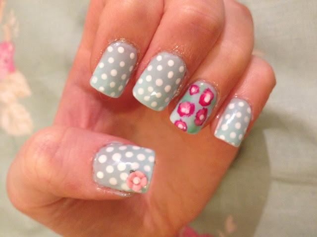 Cath Kidston inspired nail art