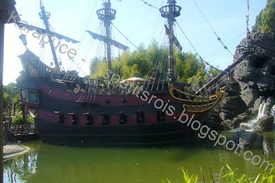 Bateau du capitaine Crochet Disneyland
