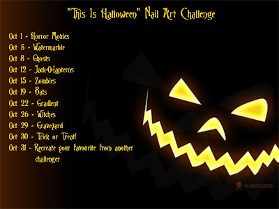 This Is Halloween Nail Art Challenge 2012.