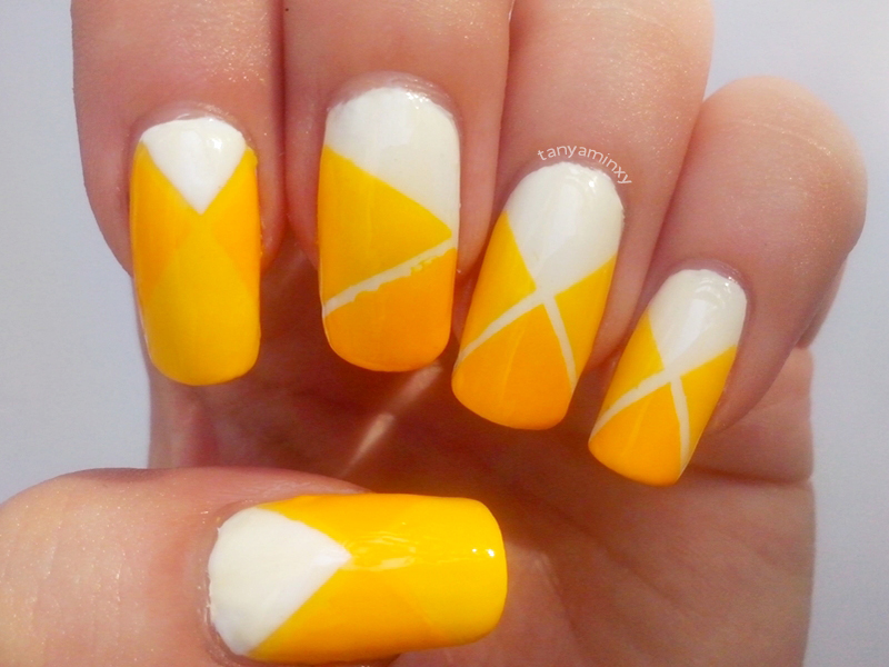 Matching Manicure Yellow Nails Striping Tape Nails Nail Art Nail Design Pattern