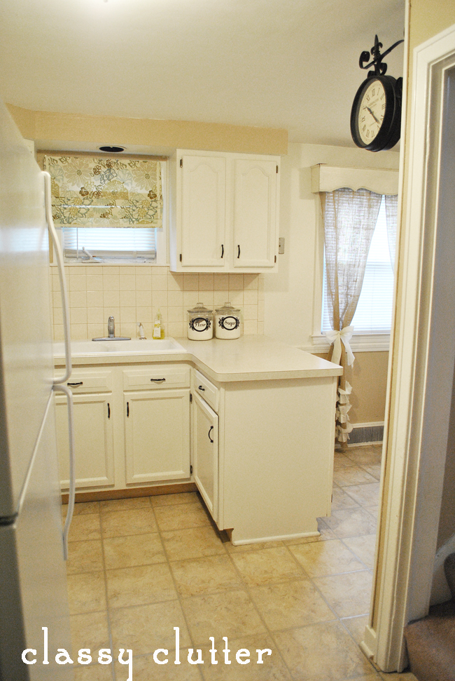 Painted cabinets and my kitchen makeover classy clutter for Behr paint for kitchen cabinets