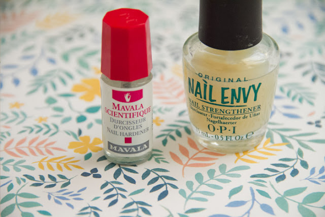 Endurecedor Nail Envy OPI y Mavala Scientifique