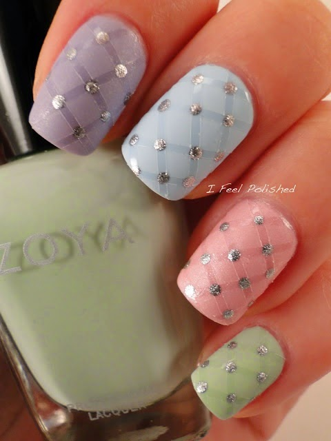 Easter Cross Nail Art Designs