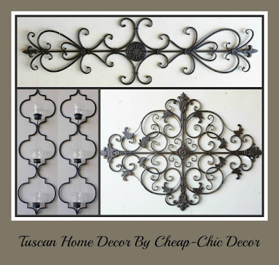 Cheap chic decor look at what just arrived tuscan decor for Cheap chic home decor