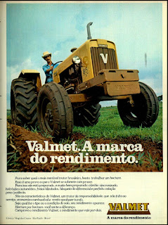 propaganda trator Valmet - 1978. brazilian advertising cars in the 70s; os anos 70; história da década de 70; Brazil in the 70s; propaganda carros anos 70; Oswaldo Hernandez;