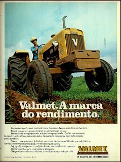 propaganda trator Valmet - 1978. brazilian advertising cars in the 70s; os anos 70; história da década de 70; Brazil in the 70s; propaganda carros anos 70; Oswaldo Hernandez;