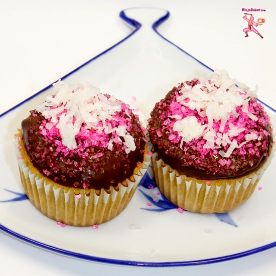 Australia Day Lamington Cupcakes
